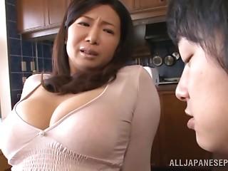 Splendid Sayuri Mikami Serves A Oral pleasure And A Titjob