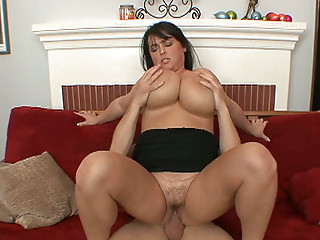 Massive mambos of Indianna Jaymes hang down when that babe bonks in a doggystyle