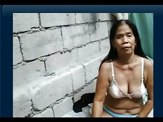 55yr mature Filipina Grandmother receives Nude on Livecam