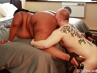 Hawt Asian Swarthy BBW Dominates White Cuckold