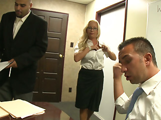 Jessica Moore guarantees sexy and steamy office bonk