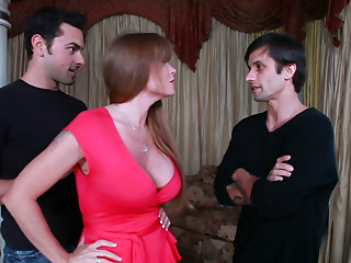 Lustful milf Darla Crane acquires a double serving of juvenile weenies