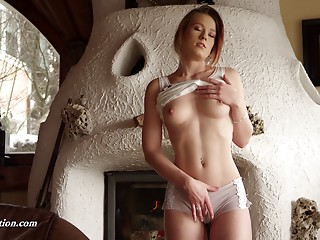 Beautiful Anna is one time afresh masturbating in the older cottage