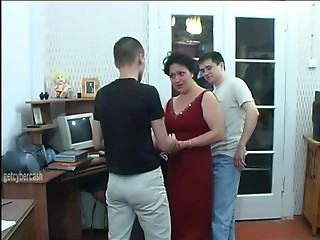A pleasure night is 3 studs fucking a Mother I'd like to fuck on her floor