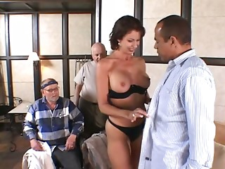 Alluring wife is groaning with a thick one