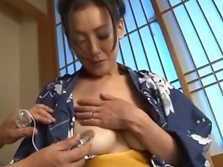 Marvelous Old Ayumi Takanashi plays with some toys