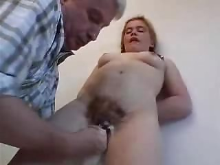Perverted redhead cutie acquires screwed by some slutty grandad indoors