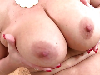 Fantasy old mommy with super body