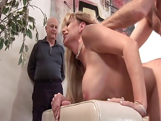 Big breasted old blond acquires her cunt pounded during the time that her spouse watches