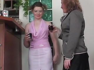Elisabeth and Ninette old in lesbo act of love