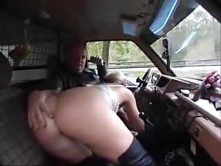 German Mother I'd like to fuck sucks shlong in a car with voyeurs_240p