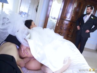 Brazzers - Cheating bride Simony Diamond can't live without anal sex