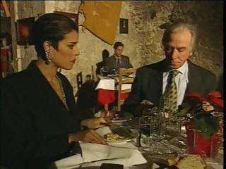 Elegant Italian Elder cheating spouse on restaurant