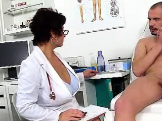 Impure czech MILF Gabina is wicked doctor in cfnm copulation