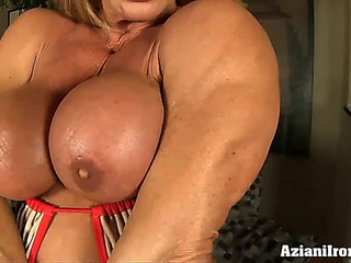 Large muscles, large clitoris and a pump to make it larger
